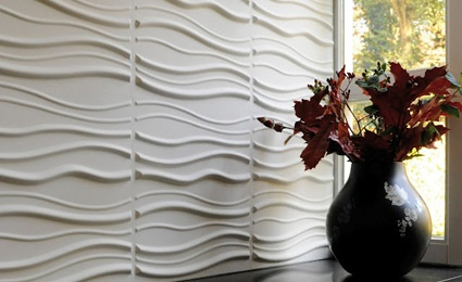 Empresa europeia transforma bagaço de cana em painéis de parede 3D: Wall Art, Homes Interiors Design, 3D Wall Panels, Interiors Design Kitchens, Fireplaces Wall, Wall Decoration, Decoration Wall, Texture Wall, Art Wall