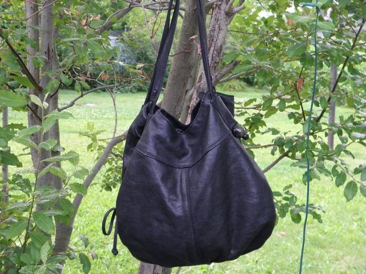 LUCKY BRAND DIANA SHOPPER TOTE BUCKET BAG-BLACK-100% LAMB LEATHER-DOUBLE STRAP…GREAT CONDITION SOFT LAMB LEATHER-ONLY $40 Buy It Now-Ebay Item #191957286616 - SOLD - Headed to NC.