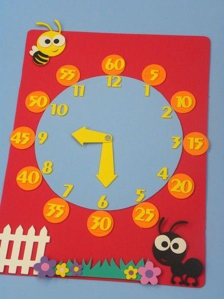 relógio para ensinar as horas e minutos www.petilola.com.br                                                                                                                                                                                 Mais