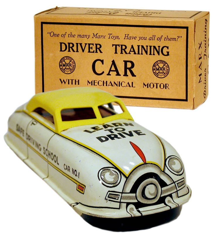 1951 Marx, Driver Training Car w/Yellow Roof (Factory Sample)