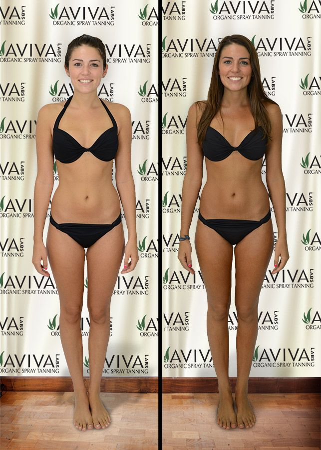 Nice Spray Tan Before And After By Blush Organic Sunless Tanning Using Aviva Labs
