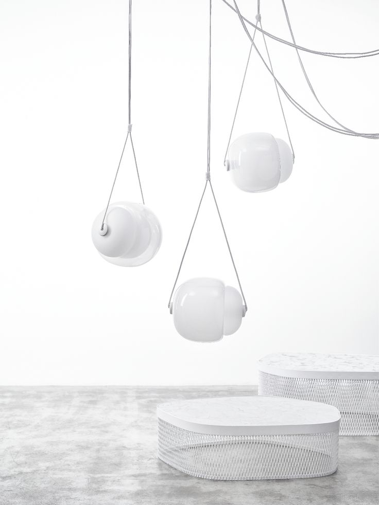Brokis - Lights - Interior - Design.  CAPSULA by Lucie Koldova Brokis opens Maison & Objet with stunning white presentation featuring Whistle and Capsula in opaline glass. We are looking forward to you at our stand F33, hall 7!