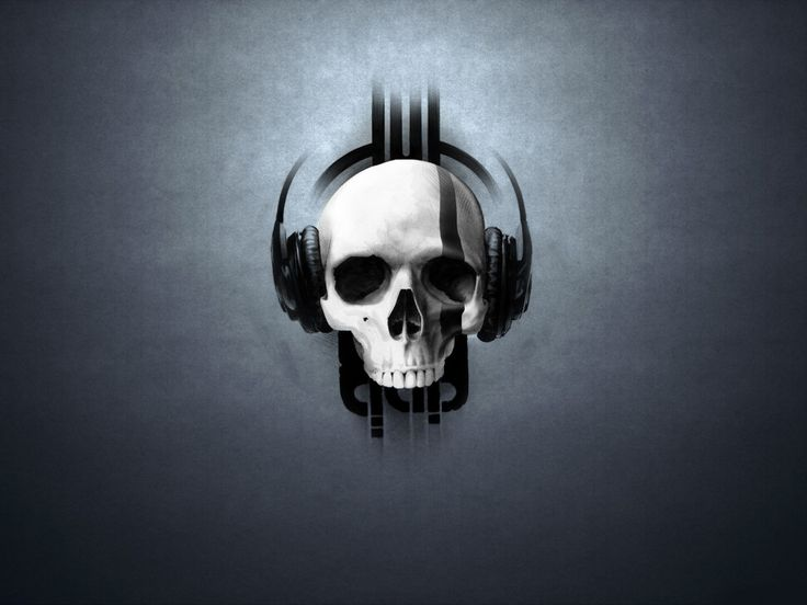 Music skull headphones Wallpaper in 1280x960