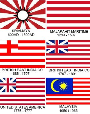 The USA flag was inspired by the British East India Co. which itself was inspired by the Majapahit Empire of South East Asia.