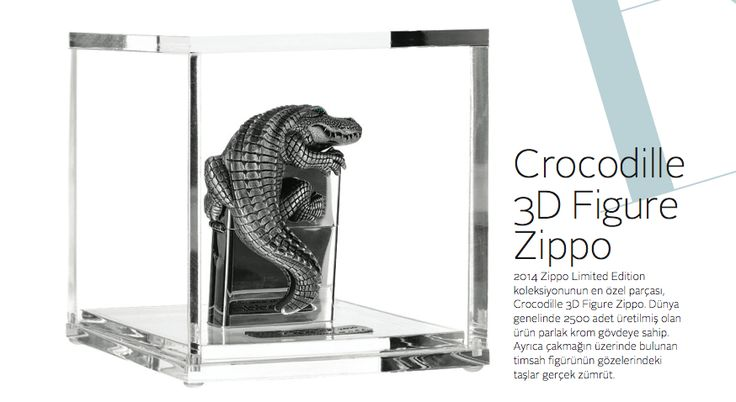 Crocodile desenli Zippo