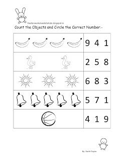 worksheets for nursery students