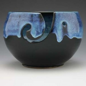 Beautiful yarn bowls.  I want one!  Available at Stitch Diva Studios website.