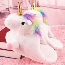 G.L.Brother Pantufa Unicornio Unicorn Slippers Pantufa De Unicornio Pantofole Unicorno Chaussons Licorne Zapatillas Unicornio(China)