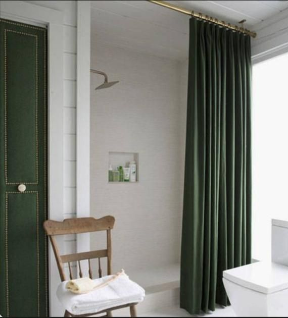 Velvet Shower Curtain Velvet Green Velvet Shower Curtain Etsy In