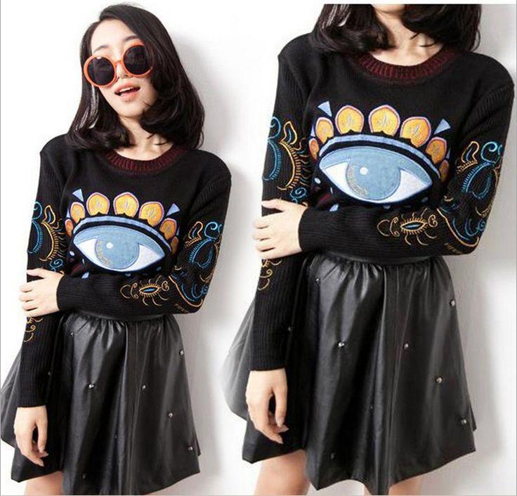 women's clothing Free shipping Eye pattern sweaters fashion sweater 3931