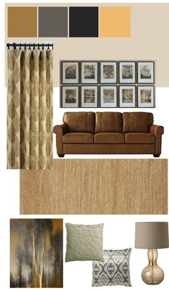 Living Room Mood Board Color PatternsColor