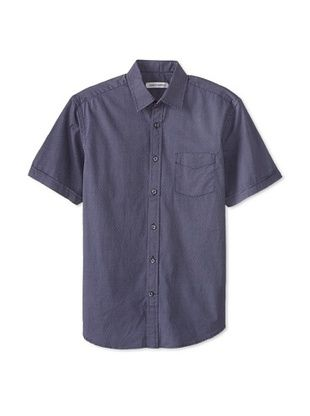 64% OFF James Campbell Men's Short Sleeve Madison Dot Shirt (Navy Combo)