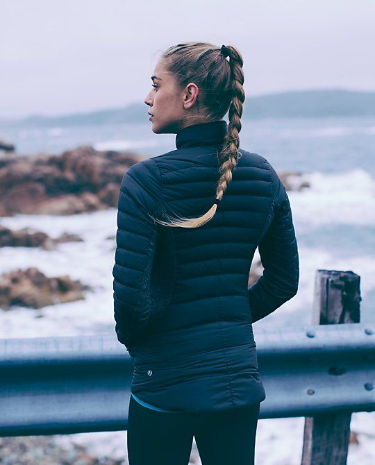 I'm just crushing on this #lululemon picture. She looks so good in that jacket, and that braid! <3