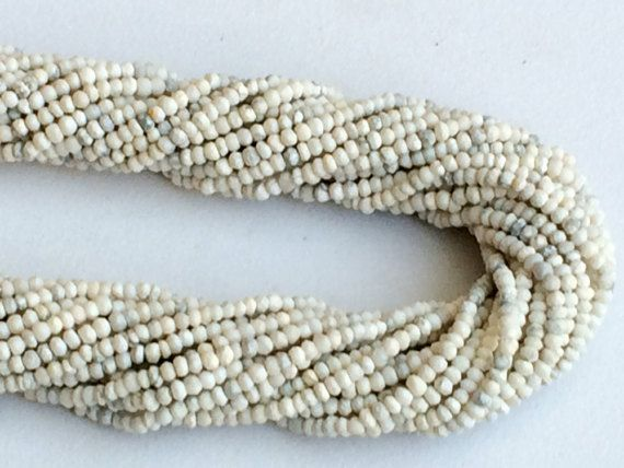 WHOLESALE 5 Strands Howlite Beads Natural Howlite by gemsforjewels