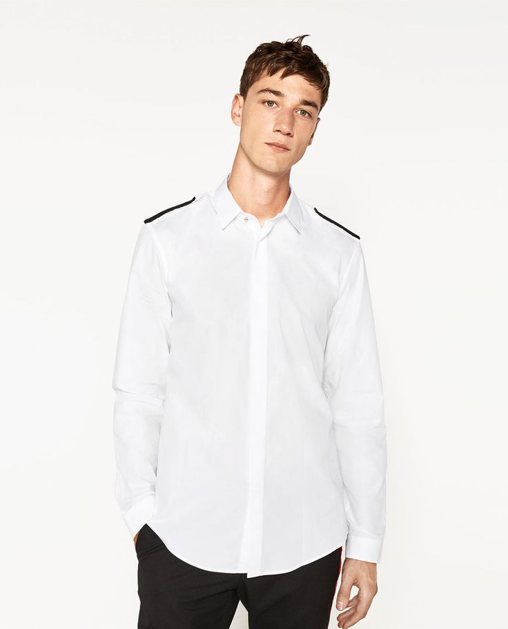 Image 1 of EPAULETTE SHIRT from Zara