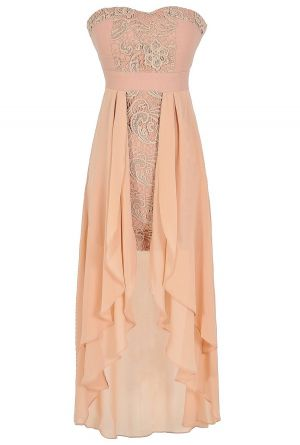 Fair Maiden High Low Dress in Pink