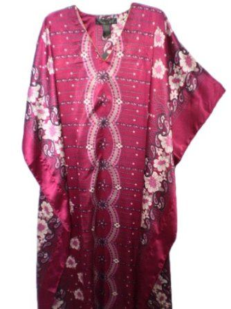 Up2date Fashion Caftan with Cherry Blossom Print, One Size, Style#Caf-67 Up2date Fashion. $11.99