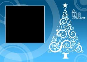 Best HolXmasCard Ideas Images On Pinterest Christmas Cards - Christmas card template blue