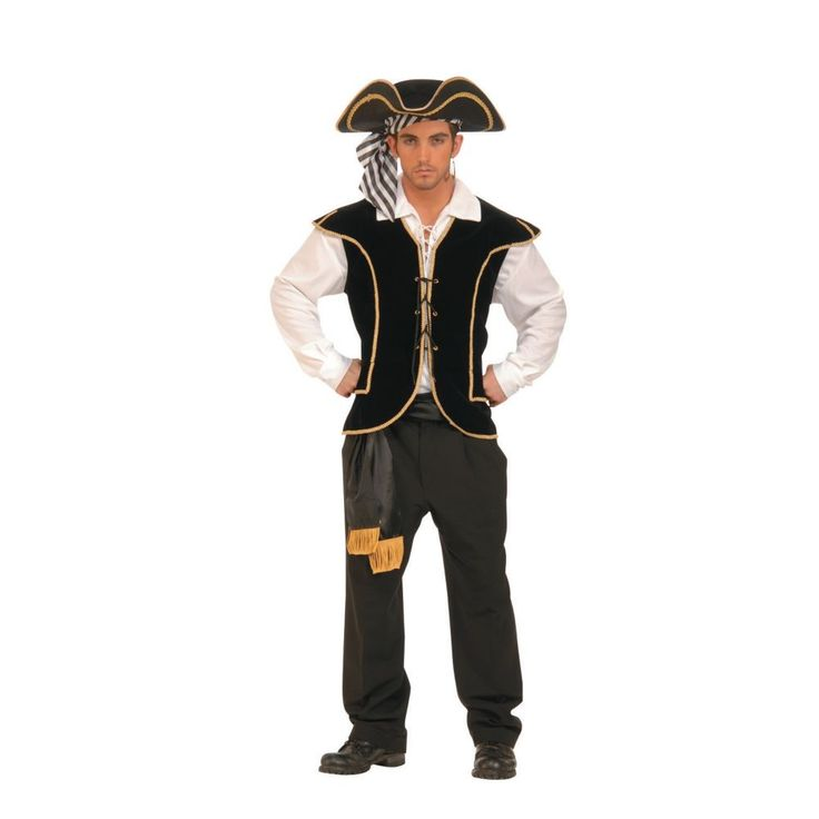 Pirate Vest Male Halloween Costume for Men - One Size Fits All