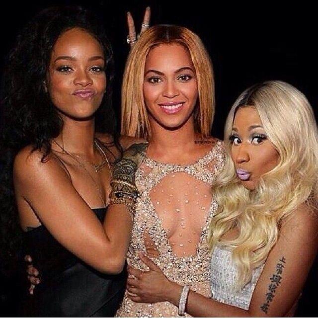 #Rihanna, #Beyonce and #NickiMinaj