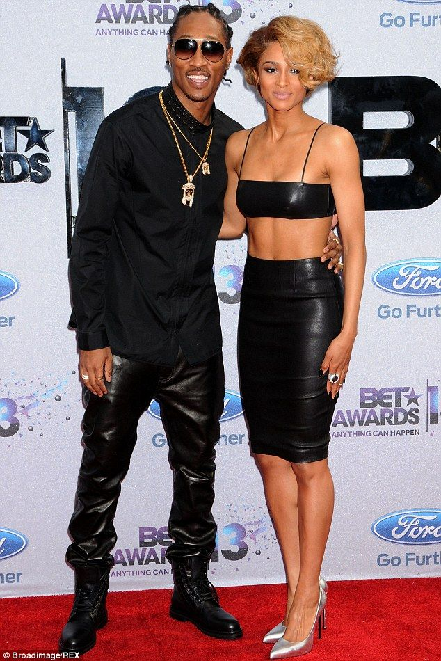 Future husband: Ciara accepted the rappers proposal as they celebrated her birthday in New York it emerged on Sunday