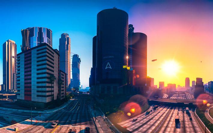 Descargar fondos de pantalla 4k, GTA5, la ciudad, el Grand Theft Auto V, GTA V