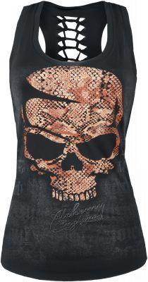 I know this doesnt seem like me but i secretly really love it. Snake skin skull tank.