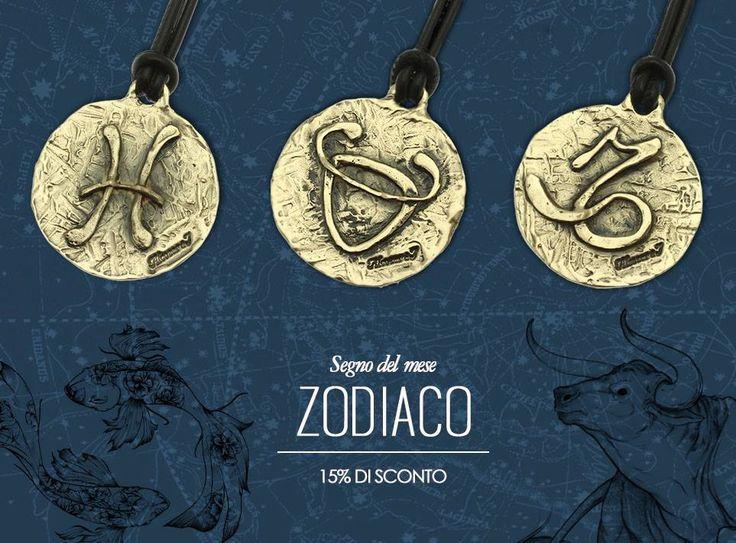 Avete già scoperto la nostra Collezione Zodiaco? Ogni mese il ciondolo del Segno Zodiacale è in offerta per voi sul nostro Shop Online!