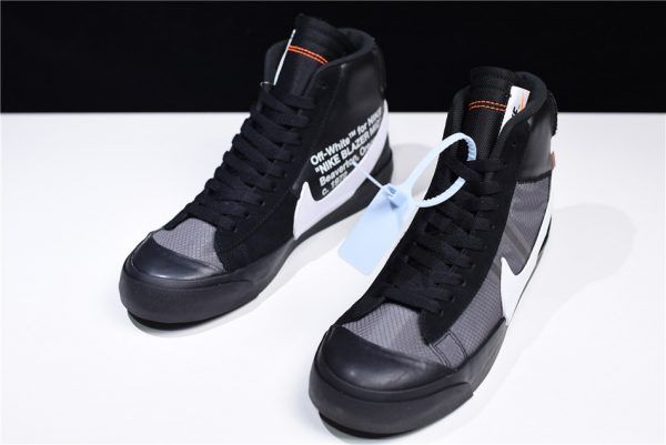 official photos e277c 808a3 Off-White x Nike Blazer Mid Grim Reaper Black Cone White AA3832-001-1