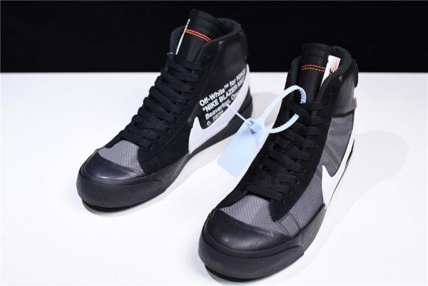 00baa89e2ac Off-White x Nike Blazer Mid Grim Reaper Black Cone White AA3832-001-1