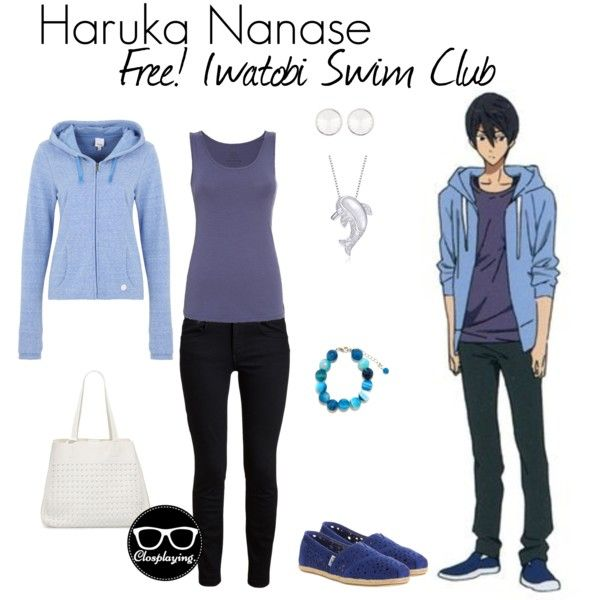 """Haruka Nanase Closplay"" by closplaying on Polyvore"
