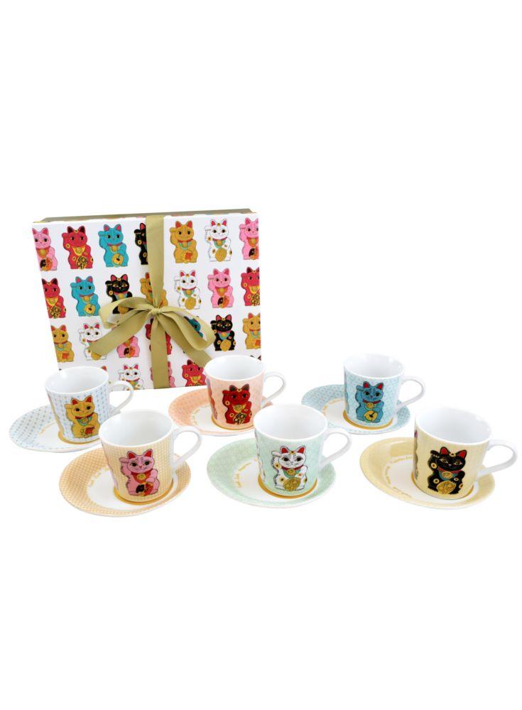 A Loja do Gato Preto   6 Chávenas de Chá Maneki Neko #alojadogatopreto