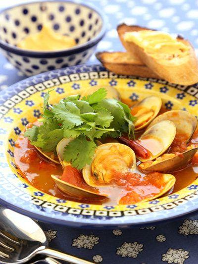 Recipe : はまぐりのスープ ブイヤベース風。 #Recipe #レシピ