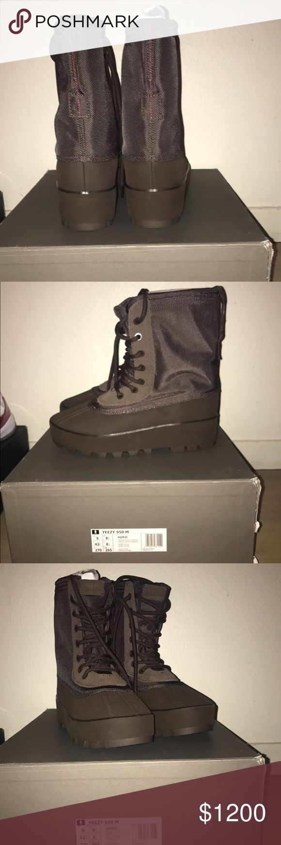 Adidas Yeezy Boost 950 Chocolate DS Never Worn sold out everywhere Authenticated at Sneaker Con Adidas Shoes Boots