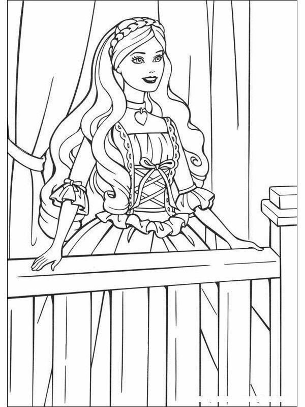 Coloring Pages Barbie Princess Buku Mewarnai Warna Buku