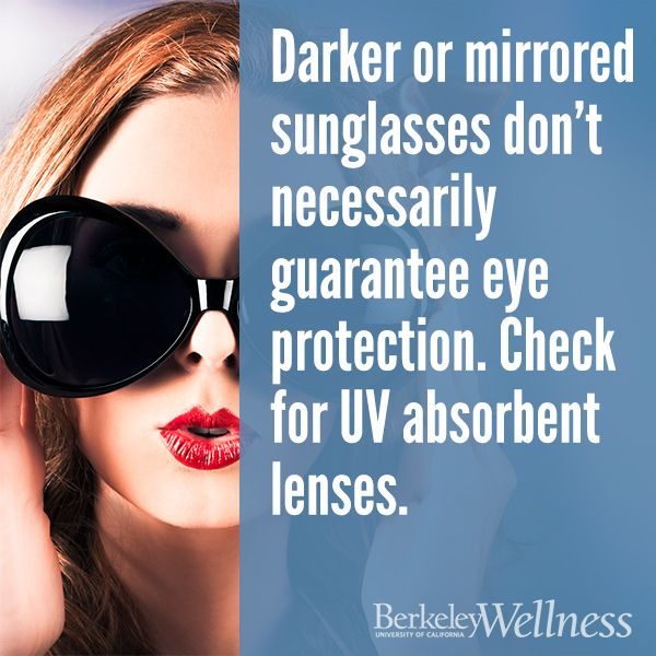Darker or mirrored #sunglasses don't guarantee protection ...