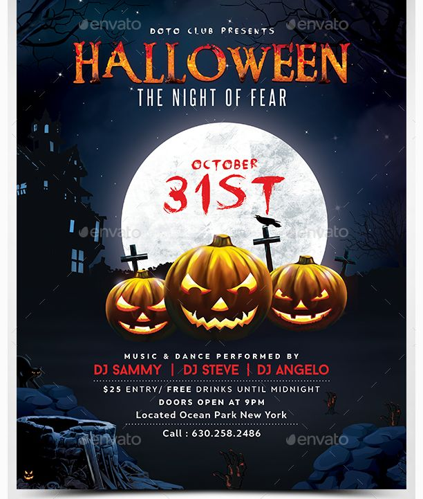 Best 25 Beautiful Halloween Flyer Templates Images On Pinterest