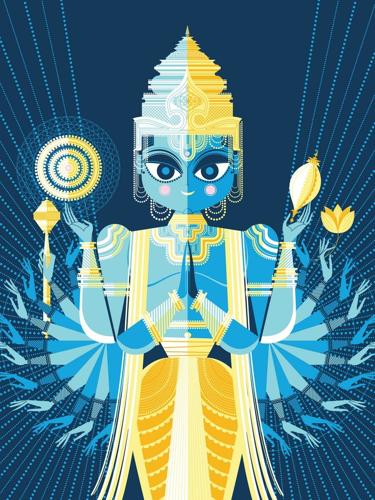 Vishnu by Sanjay Patel