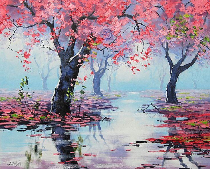 Грэм Геркен. Голубые горы, розовые деревья. - Австралийский художник Грэм Геркен (Graham Gercken) родился в 1960 году в Квинсленде, но большую часть жизнь провёл к западу от Сиднея, в районе Голубых гор, причисленных к объектам всемирного наследия ЮНЕСКО. Природная красота