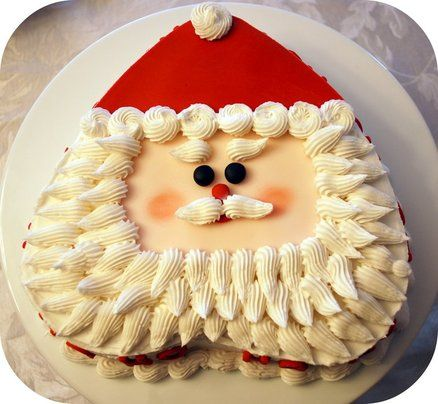 Santa Cake- heart shaped pan