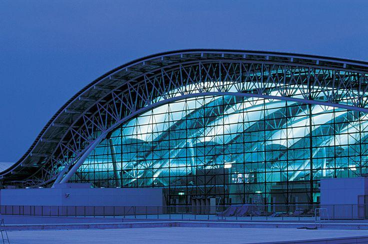 Aeropuerto Internacional de Kansai, en Osaka (Japón), obra del arquitecto Renzo Piano