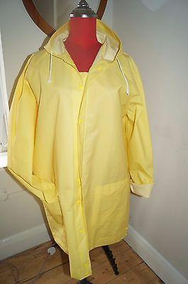 New Yellow Glastonbury Festival Fisherman Style Rain Coat Rain Mac Jacket M 14