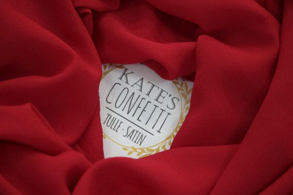 403 Red Soft Crepe Chiffon FabricWholesale Crepe De Chine