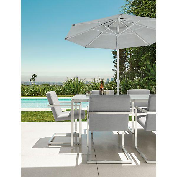 outdoor dining furniture with umbrella. oahu 9u0027 and 11u0027 umbrellas in sunbrella canvas modern outdoor dining chairsmodern furniture with umbrella