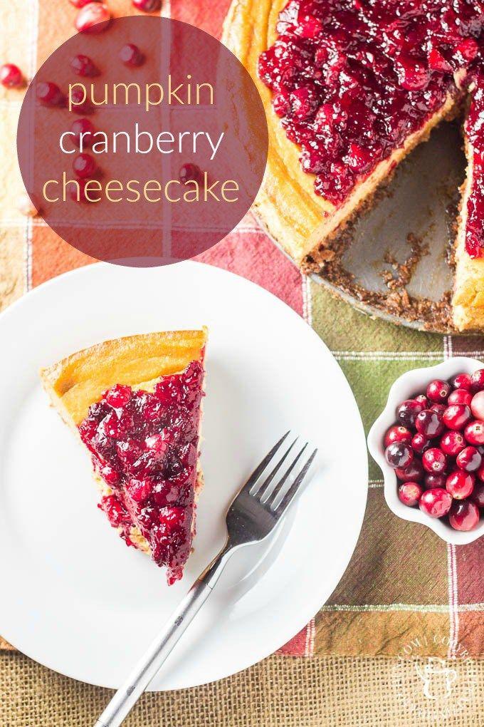 Pumpkin Cranberry Cheesecake   Catz in the Kitchen   catzinthekitchen ...