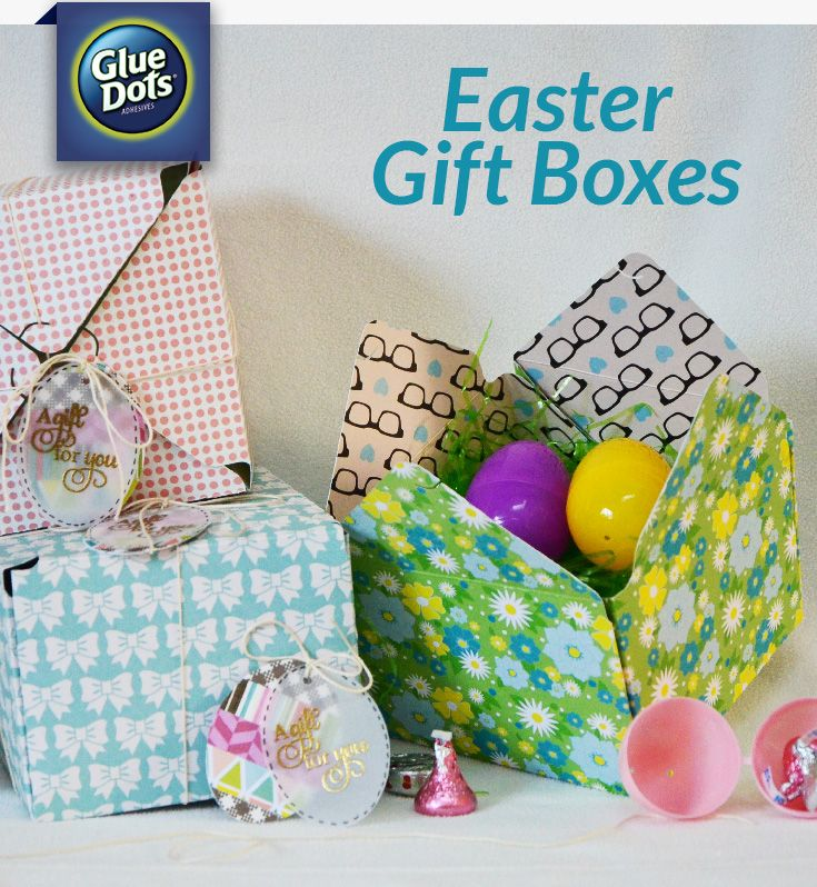 Easter gift boxes are quick and easy to make for someone special easter gift boxes are quick and easy to make for someone special designer grace shows you how to make them with patterned paper glue dots and a negle Image collections
