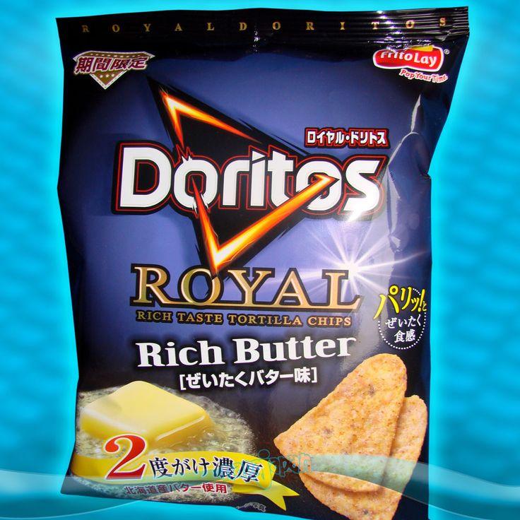 Japanese DORITOS ROYAL RICH BUTTER Corn Chips Japan Candy Frito Lay Lmt. Edtn. #Doritos #CornChips