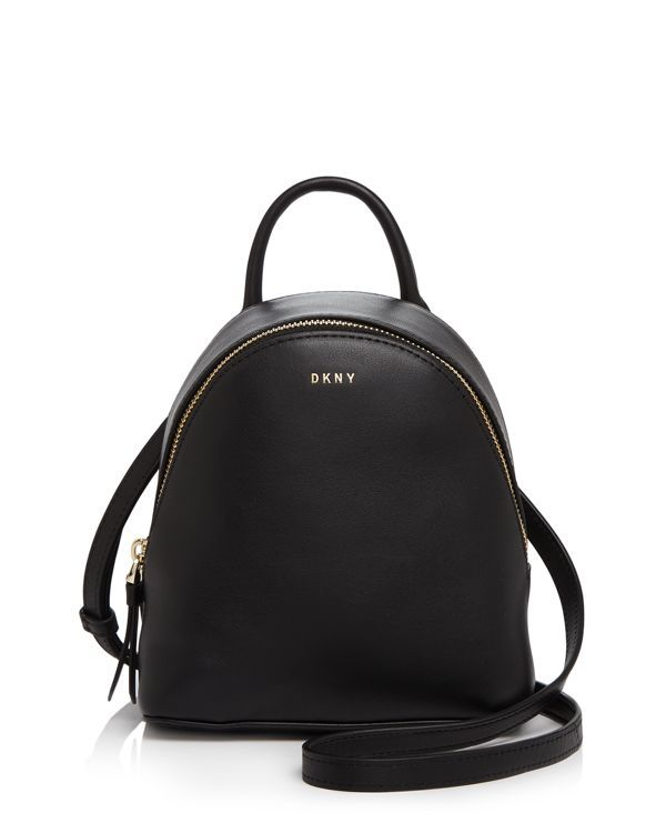 Carry This Minimalist And Micro Mini Dkny Backpack As A Crossbody Or Shoulder Bag Using The Convertible Strap Option Leather Impo Bags Galore In