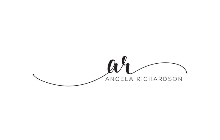 Custom Hand Drawn Script Logo Desing for Angela Richardson.  Buy yours from the link below.  www.fiverr.com/maxahir