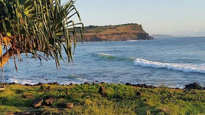 Lennox Head with Cape Byron in the far distance
